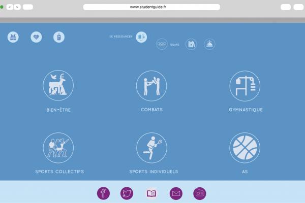 Page de de sport des catégories