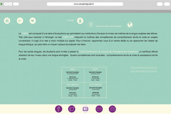 Page Certification des langues